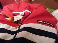 ELLESSE HOODED TRACK TOP / HOODY MENS LARGE - RETRO - BRAND NEW WITH TAGS