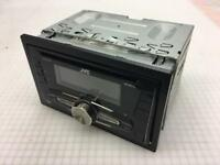 JVC KW-R510 Double Din Head Unit Cage and Trim Radio, Aux, USB, CD