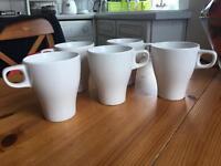 5 x White Mugs
