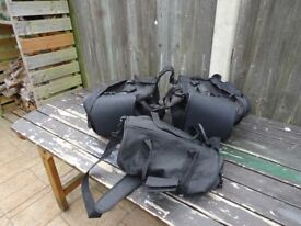 Expandable Motorbike saddle bags great quality