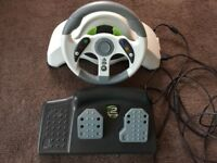 MC 2 Racing wheel and pedals for xbox 360