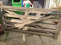 Large wooden gates x 2