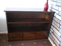 Dark Rosewood bookcase with drawers