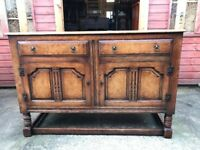 Antique Sideboard Oak & Walnut Georgian Style Sideboard - Delivery Available