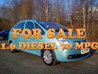 ★ Citroen Picasso (Rare 1.6 HDi DIESEL) 70 Mpg ★px Golf Passat Vectra Focus Astra estate 307 206