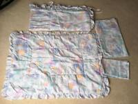 Cot/ nursery bedding set