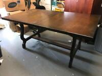 Youngers toledo dark wood dining room table with chairs