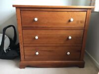 Nursery Furniture - Cot bed, Chest of Draws & Toy Box from Mamas & Papas