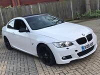 2008 BMW 320D 3 SERIES 2.0 M SPORT DIESEL MANUAL COUPE WHITE LONG MOT LEATHERS N 1 6 5 C CLASS A5 A3