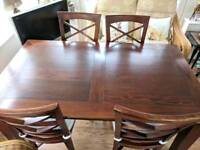 House of Frazer dining table with 4 chairs