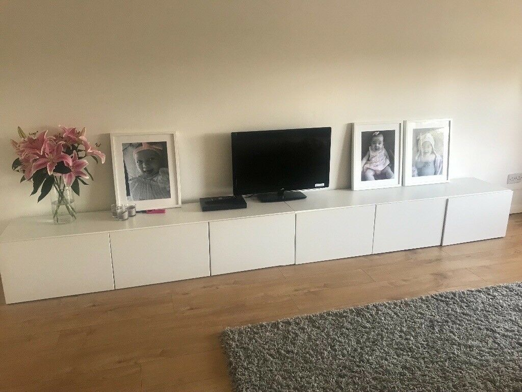 ikea besta tv unit white in southside glasgow gumtree. Black Bedroom Furniture Sets. Home Design Ideas