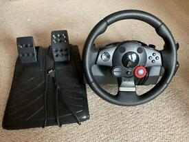 Logitech GT driving force wheel
