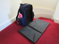 Tomy 2in1 Changing Mat Nappy Backpack Baby Travel Backpack Changing Bag Large Capacity Waterproof