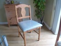 Selection of dining and kitchen chairs for sale, 2 light wood 4 dark wood 4 white