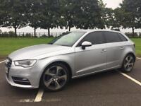 AUDI A3 2.0 TDI SPORTBACK + LOW MILES + HALF LEATHERS + OFFERS + 2 OWNERS NOT 1.6 S LINE 1.4 TFSI