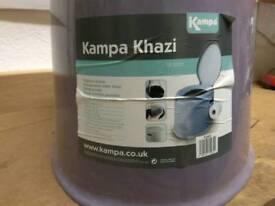 New and never used Kampa khazi porta potti camping toilet