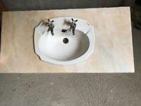Vanity Basin in Marble Top