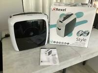REXEL STYLE PAPER SHREDDER, LIKE NEW ,WITH BOX