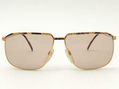 NEW VINTAGE GUCCI MARBLED OCHRE ACCENTS FRAME 1990'S ITALY SUNGLASSES