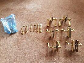Brass door handles assorted