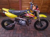 140cc stomp pit bike mint!!! pitbike/ dirt bike/ scrambler/ ktm/ demon x/ thumpstar