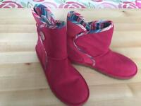 Pink suede Uggs size 2