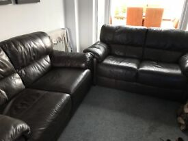Leather Sofas x 2