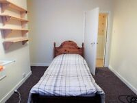 Wooden Single bed with memory foam mattress excellent for a youngster £35