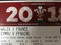 6 Nations Wales vs. France ticket x 1