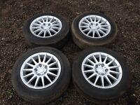 """Audi A4 15"""" alloy wheels - good tyres"""