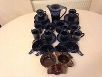 "Vintage Retro ""KERNEWEK"" Cornish Drip Ware Pottery in Excellent Condition"