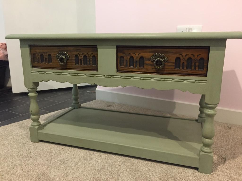 Coffee Tablein Mitcham, LondonGumtree - Antique Shabby Chic coffee table, with two sliding draws. Pick up only