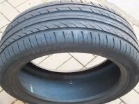215/45 R 17 Tyre 6mm HIGHFLY 91 W extra load, Good condition, even wear