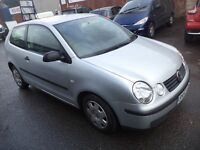 2002 Volkswagen Polo 1.2 Petrol 3 Door Hatchback Mileage 72K