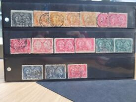 CANADA 16 ASSORTED FINE USED 1897 JUBILEE ISSUES