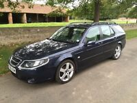 Saab 9-5 Estate 2.0t Turbo Edition, petrol. Blue with cream leather. Great condition.