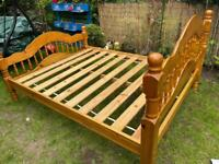 Double bed frame(Delivery available)