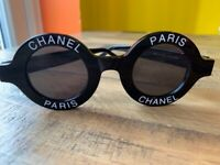 fbed9b5f4cd Authentic Black Chanel Round Sunglasses