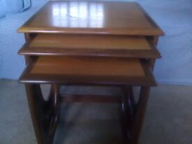G Plan nest of three wooden Astro tables