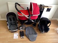 ***ICANDY Peach Pushchair **++ Carrycot ++ Maxi Cosi Car Seat VGC