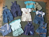 selection baby boys clothes age 9-12 months
