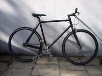 Fixie/ Single Speed Track Bike, Black, Deep-V Wheels, Good Brakes, JUST SERVICED/ CHEAP PRICE!!!!!!