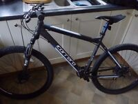 """Carrera Vengeance Mens Mountain Bike 20"""" Frame Excellent Condition Only Used Twice"""