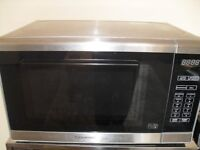 cookworks microwave,excellent condition,full working order,clean,stainless steel. bargain for £20