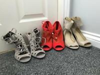 19 pairs of Ladies shoes/boots