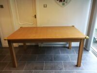 Extendable oak dining table