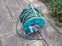 Garden Hose Reel with Attachments