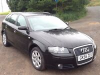 AUDI A3 SPORTBACK 2.0 TDI 170BHP AUTOMATIC,HPI CLEAR,CAMBELT&PUMP CHANGE,MOBILE PAROT,LEATHER,CRUISE