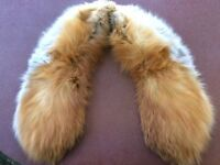 Beautiful vintage real fox fur collar (possibly about 1920's)