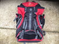 Large rucksack red & black